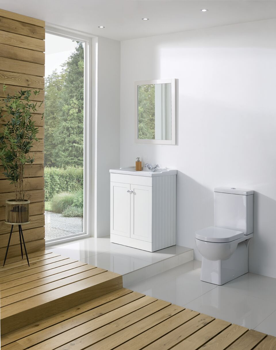 Bathroom Furniture, 600mm Unit - Matt White, STRABANE WHOLESALE LTD, Strabane, Co. Tyrone
