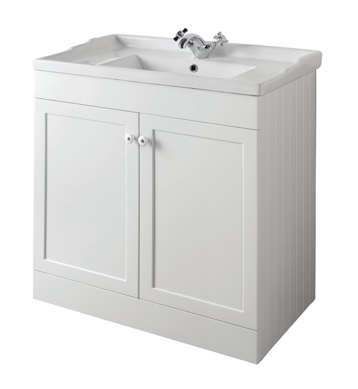 Bathroom Furniture, 800mm Unit - Matt White, STRABANE WHOLESALE LTD, Strabane, Co. Tyrone
