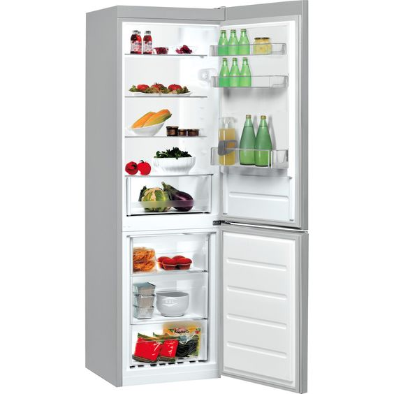 Indesit LR8S1S 339 Litre Freestanding Fridge Freezer 60/40 Split A+ Energy Rating 60cm Wide - Silver , STRABANE WHOLESALE LTD, 02871382374