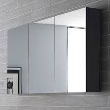 QUARTET MIRROR CABINET – HIGH GLOSS GRAPHITE