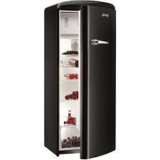 Montpellier MAB340K BLACK RETRO STYLE TALL FRIDGE WITH 4* ICEBOX