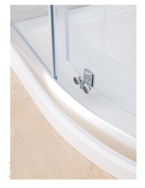 Silver Offset Quadrant Shower Enclosures, Strabane Wholesale Ltd, Strabane, Co. Tyrone