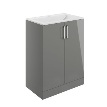 Volta Floor Standing Furniture - Grey Gloss, STRABANE WHOLESALE LTD, STRABANE, CO. TYRONE