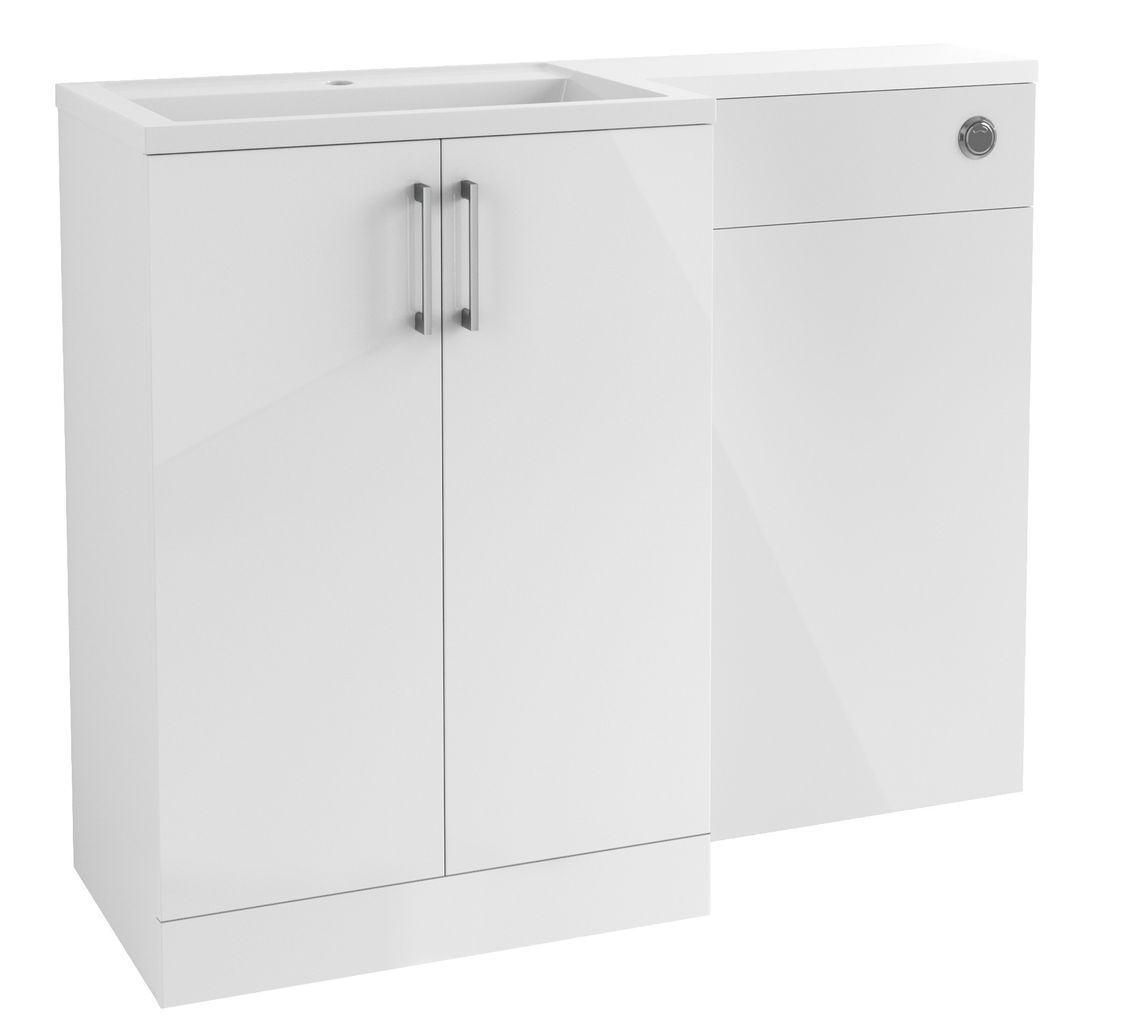 Volta Floor Standing Furniture - White Gloss, STRABANE WHOLESALE LTD, STRABANE, CO. TYRONE