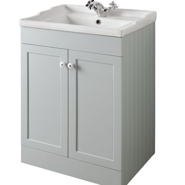 Bathroom Furniture, 600mm Unit - Matt Dove Grey, STRABANE WHOLESALE LTD, Strabane, Co. Tyrone