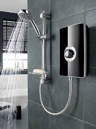 Triton Aspoante Electric Shower in Black Gloss, White Gloss, Brushed Steel, Strabane Wholesale Ltd, Strabane, Co. Tyrone, 02871 382374