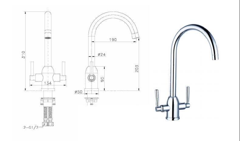 Mono Mixer Taps, STRABANE WHOLESALE LTD, Strabane, Co. Tyrone, BT82 8EH, 02871382374