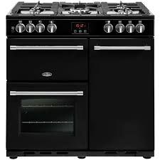 Belling Farmhouse 90DFT 90cm Dual Fuel Range Cooker in Black