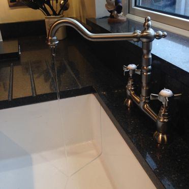 Baroc Bridge Brushed Steel Traditional French Style Tap