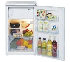 Lec R5010W 50cm Under Counter Fridge with Freezer Box in White