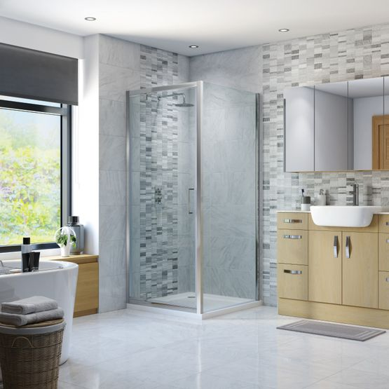 Hinged Shower Doors, Shower Enclosures, Strabane Wholesale Ltd, Strabane, Co. Tyrone