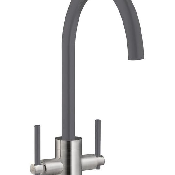 Prima+ Swan Neck Dual Lever Mixer Tap WHITE, GREY, BLACK, GUN METAL, STRABANE WHOLESALE LTD, STRABANE, CO. TYRONE, 02871382374