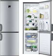 Zanussi ZRB24100XA Free-Standing Fridge Freezer in Silver+Stainless Steel Door with Antifingerprint