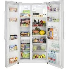 Lec AFF90185 Side-by-side American Fridge Freezer White