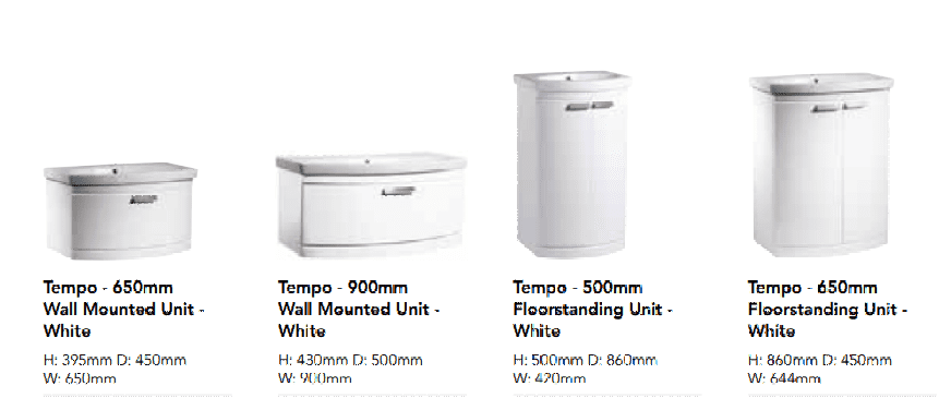 Bathroom Furniture, TEMPO Range, Strabane Wholesale Ltd, Strabane, Co. Tyrone, BT82 8EH, 02871382374